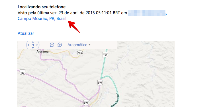 Clique sobre o endereço para encontrá-lo no mapa (Foto: Reprodução/Helito Bijora)