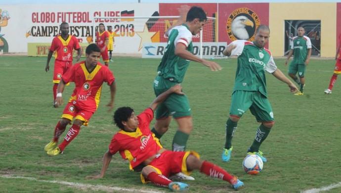 Alecrim vence Globo FC no Estádio Barretão, em Ceará-Mirim (Foto: Divulgação/Globo FC)