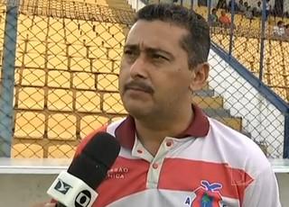 Treinador do Americano-MA, Leandro Lago (Foto: Reprodução/TV Mirante)