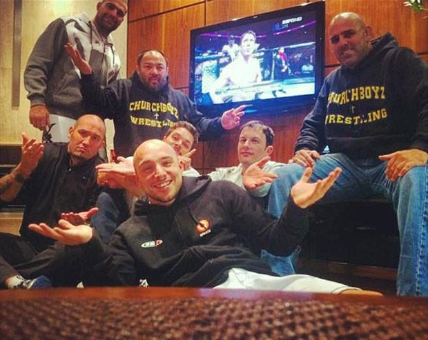 MMA Maurício Shogun e equipe (Foto: Reprodução/Instagram)