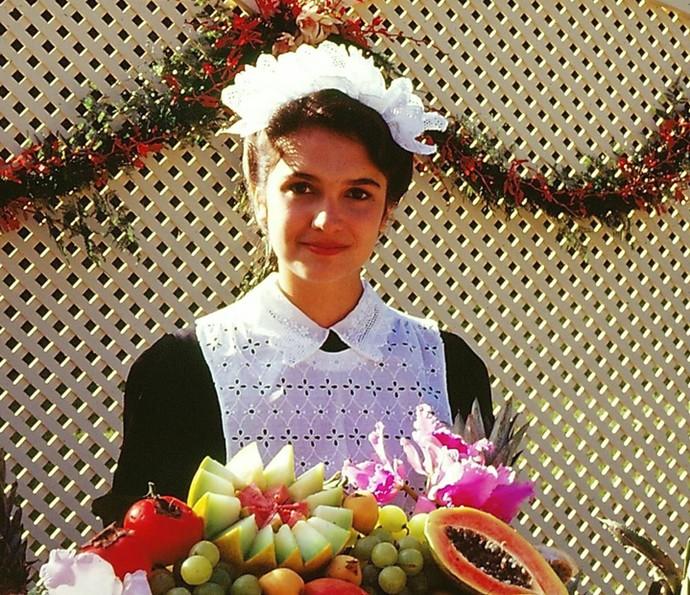 Na minissérie 'A, E, I, O .. Urca' (1990), Sandra Annerberg foi a Carmencita (Foto: TV Globo)