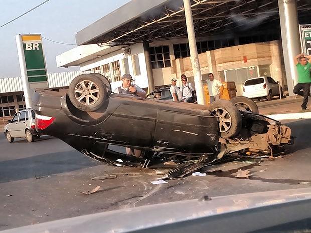 Acidente ocorreu após a Trincheira do Zero KM, em Várzea Grande (Foto: Márcio Alves Ferreira/Arquivo pessoal)
