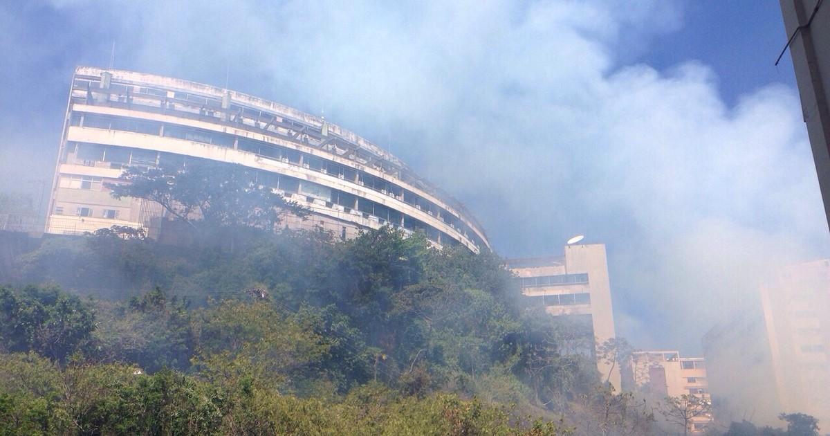 Incêndio em vegetação mobiliza o Corpo de Bombeiros em Ipanema - Globo.com