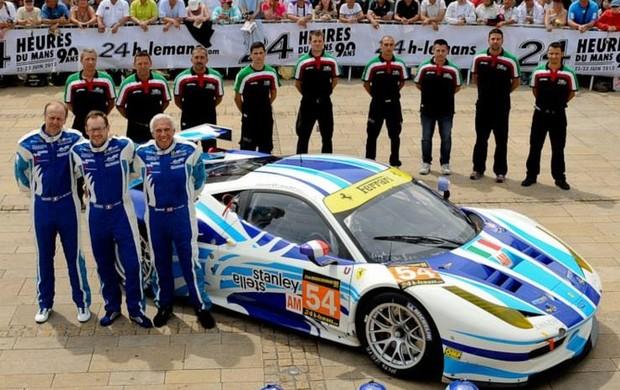 Endurance: Ferrari da GTE-Am tem o piloto mais velho das 24 Horas de Le Mans, Howard Blank (Foto: Reprodução Facebook)