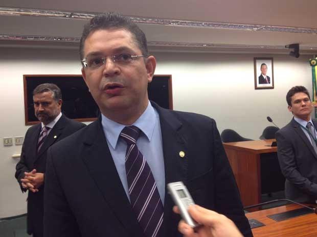 Deputado Sóstenes Cavalcante na Comissão de Direitos Humanos (Foto: Fernanda Cagaro / G1)