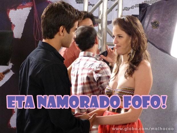 Mas o SuperGil vai dar uma força pra namorada <3 (Foto: Malhação / Tv Globo)