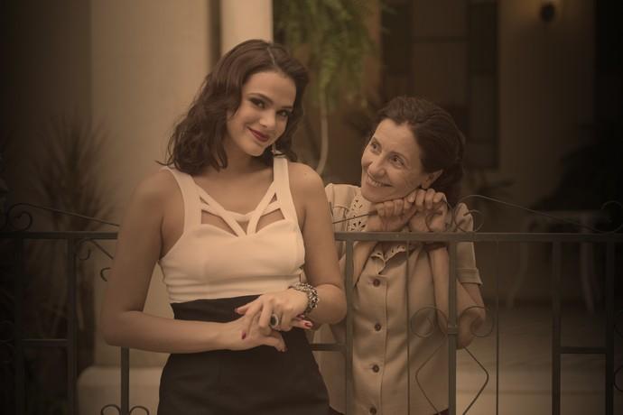 Cassia Kis e Bruna Marquezine (Foto: Estevam Avellar / TV Globo)