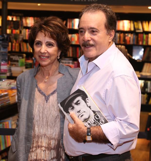 Tony Ramos e a mulher, Lidiane Barbosa  (Foto: Anderson Borde/AgNews)