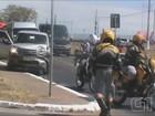Vídeo mostra acidente entre carros de comitiva da Dilma em Campinas