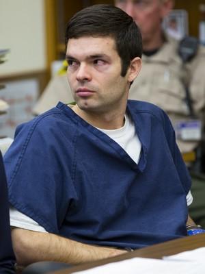 Kevin Christopher Bollaert, de 28 anos, durante o pronunciamento de sua sentença no tribunal de San Diego, na sexta-feira (3) (Foto: AP)