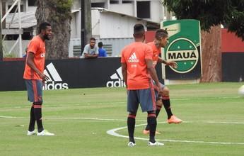 Em treino, Fernandinho entra no time, e Flamengo segue no esquema 4-3-3