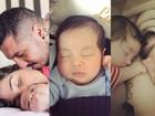 5 meses de Lucca, filho dos ex-BBBs Fernando e Aline, em 10 fotos fofas!