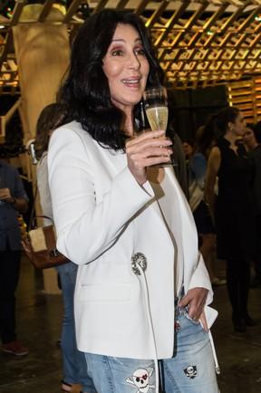 Cher em evento em São Paulo (Foto: Manuela Scarpa/ Foto Rio News)