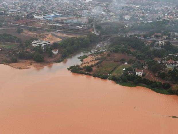 Encontro do Rio Guandu com o Rio Doce, em Baixo Guandu (Foto: Fred Loureiro/ Secom-ES)