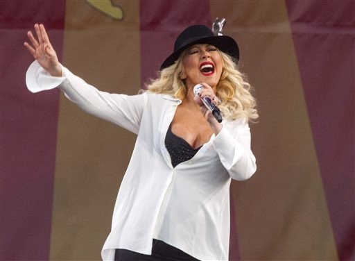 Christina Aguilera vai dar aulas de canto pela internet (Foto: Barry Brecheisen/AP)