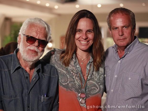 Manoel Carlos com os diretores Teresa Lampreia e Jayme Monjardim (Foto: Ellen Soares/TV Globo)