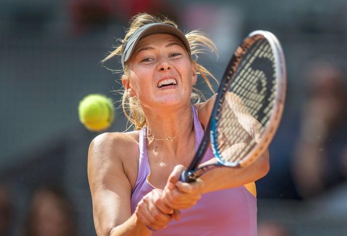 Sharapova x halep tenis masters madri (Foto: AP)