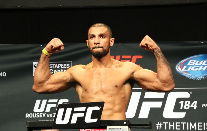 Roan Carneiro, Pesagem UFC 184 (Foto: Evelyn Rodrigues)