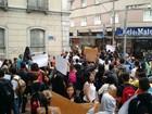 Manifestação cobra reforma de escola estadual em Juiz de Fora