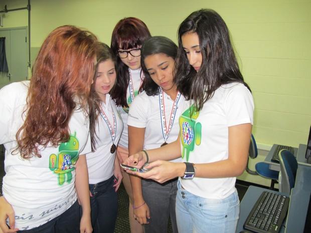 Jovens competiram em um concurso para meninas nos Estados Unidos (Foto: Anna Gabriela Ribeiro/G1)