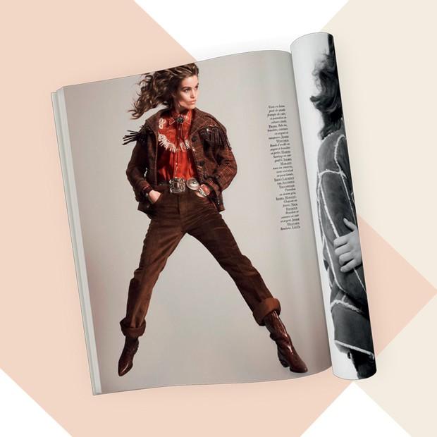 Editorial da Vogue francesa de outubro passado (Foto: David Sims, Letty Schmiterlow, Archive Photos/Getty Images, Imaxtree, Divulgação e Reprodução)