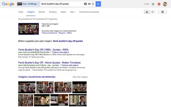 Resultado de busca no Google (Foto: Reprodução/André Sugai)