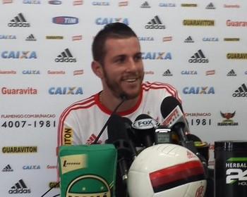 Paulo Victor Flamengo entrevista (Foto: Fred Gomes)