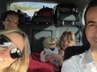 Ticiane Pinheiro e César Tralli viajam com Rafa Justus