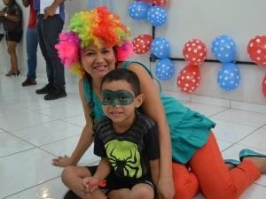Evento reuniu filhos de colaboradores, que tiveram uma manhã de lazer (Foto: Bruna Alves/TV Roraima)