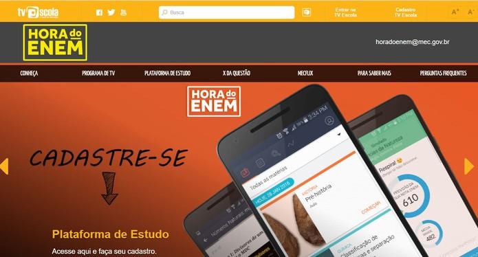 A Hora do Enem é um dos recursos do site TV Escola do MEC (Foto: Reprodução/Barbara Mannara)