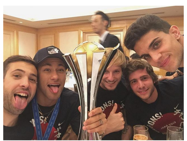 Neymar, Rakitic, Sergi Roberto Alba e Bartra Mundial