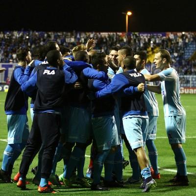 Avaí comemoração contra Paysandu (Foto: Jamira Furlani/Avaí FC)