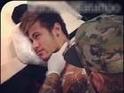 Neymar faz novas tatuagens