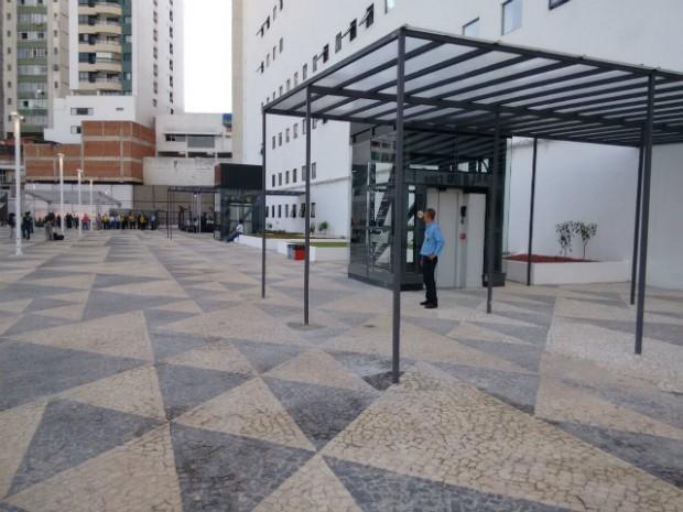 Parte externa da nova Concha Acústica (Foto: Maiana Belo/G1 Bahia)