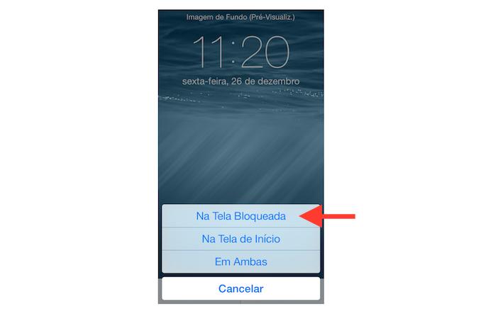 Definindo uma foto distinta para a tela bloqueada do iOS (Foto: Reprodução/Marvin Costa)