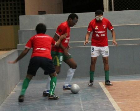 Futebol de 5 de Petrolina (Foto: Amanda Lima)