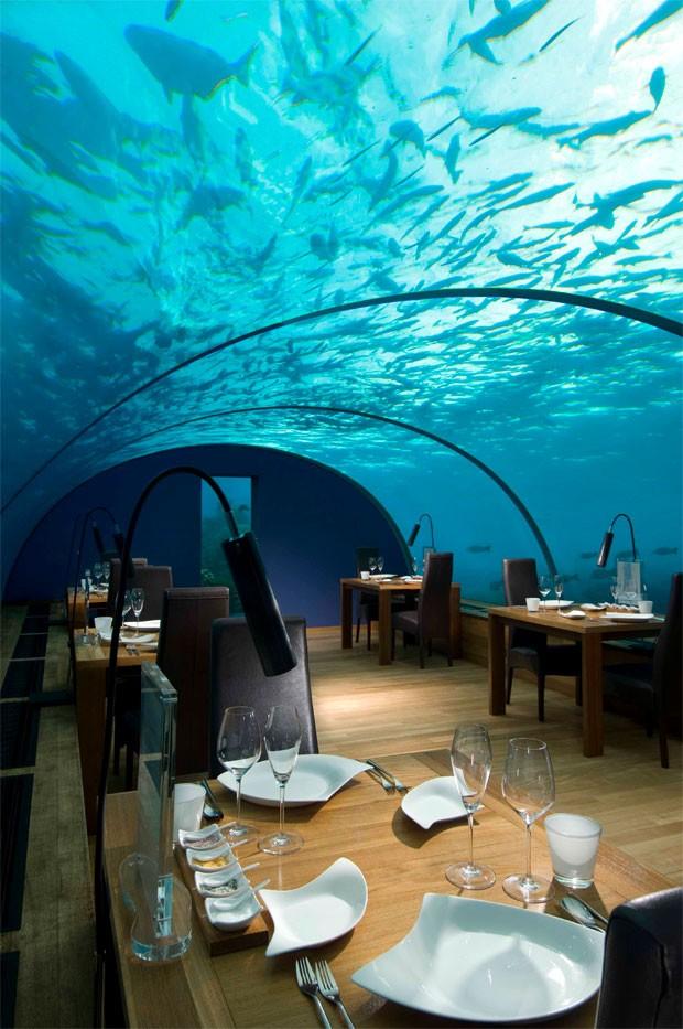 G1 resort nas ilhas maldivas tem restaurante e su te for Hotel conrad maldivas islas rangali