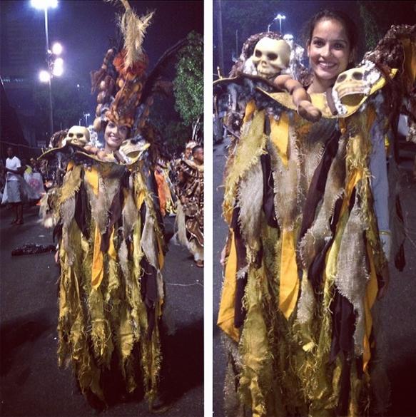 Raphaella Galacho desfilou pela Salgueiro no domingo (Foto: Reprodução/Instagram)