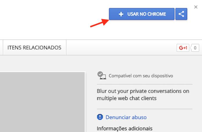 Opção para preparar o download da extensão Webchats para o Google Chrome  (Foto: Reprodução/Marvin Costa)