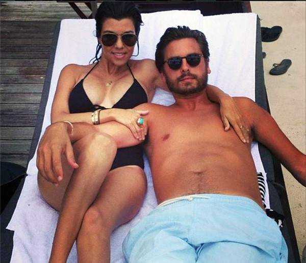 Kourtney Kardashian e Scott Disick (Foto: Instagram)