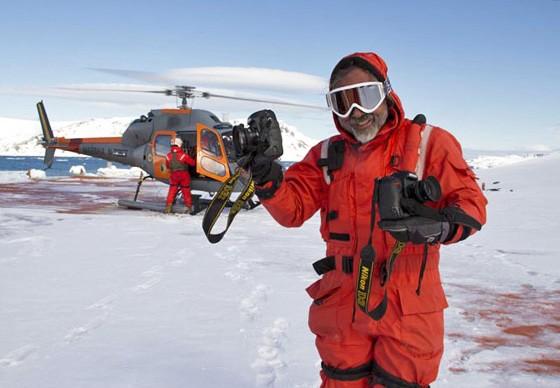 Haroldo Palo Jr em uma das expedições na Antártida (Foto: © coleção Haroldo Palo Jr)