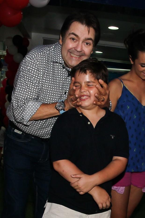 Faustão e  filho João Guilherme (Foto: Manuela Scarpa/Foto Rio News)