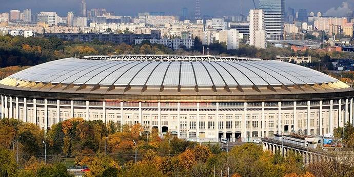 estádio de Luzhniki, onde será a partida do Lokomotiv (Foto: AFP)