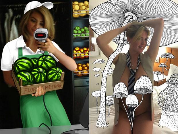 Imagem do projeto 'Unfappening' inclui ilustrações em supostas fotos vazadas da modelo Victoria Justice (Foto: Divulgação / TheUnfappening.com)