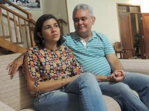 Após dez anos tentanto, Eliezer e Roseane tiveram trigêmeos (Foto: Felipe Gibson/G1)