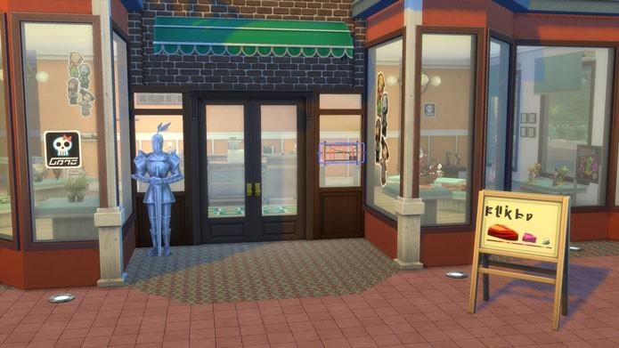Em The Sims 4: Ao Trabalho, capriche na entrada na sua loja para atrair novos clientes (Foto: Reprodução/Tais Carvalho)