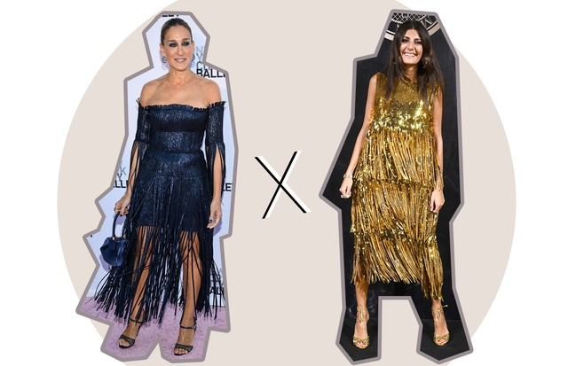 Sarah Jessica Parker e Giovanna Battaglia (Foto: Dimitrios Kambouris / Pascal Le Segretain / Getty Images)