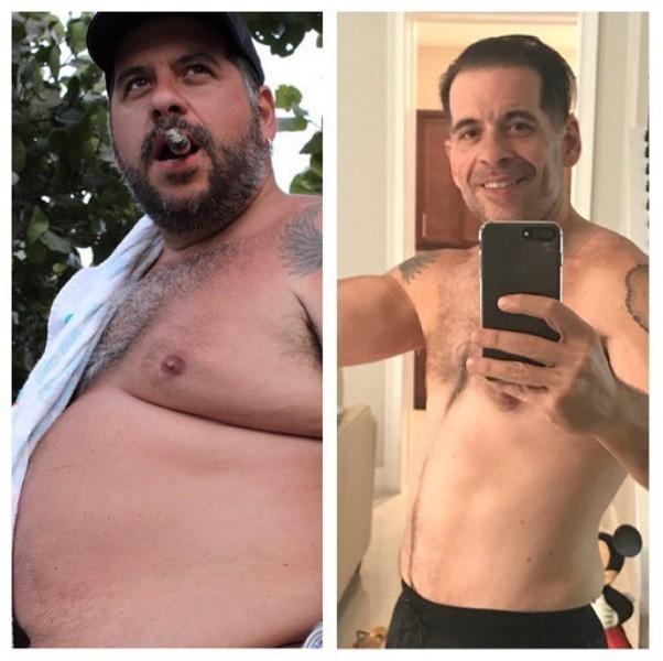 """O ator antes e depois de perder peso: """" (Foto: Reprodução/ Instagram)"""