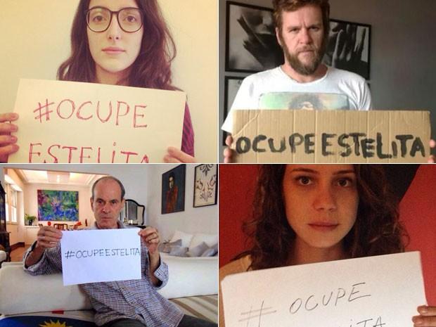 Artistas postaram fotos em apoio ao movimento: Clarice Falcão, Otto, Ney Matogrosso e Leandra Leal (Foto: Reprodução / Instagram e Reprodução/Facebook)
