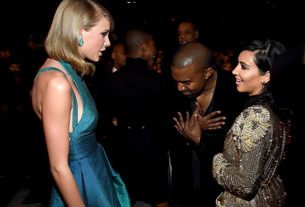 Kanye West e Kim Kardashian X Taylor Swift (Foto: Getty Images)